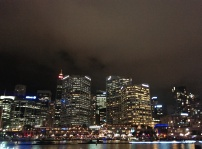 City lights at Darling Harbour