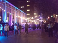 Parramatta Laneways Festival at night
