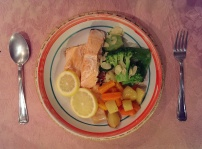 Baked Salmon and Veggies