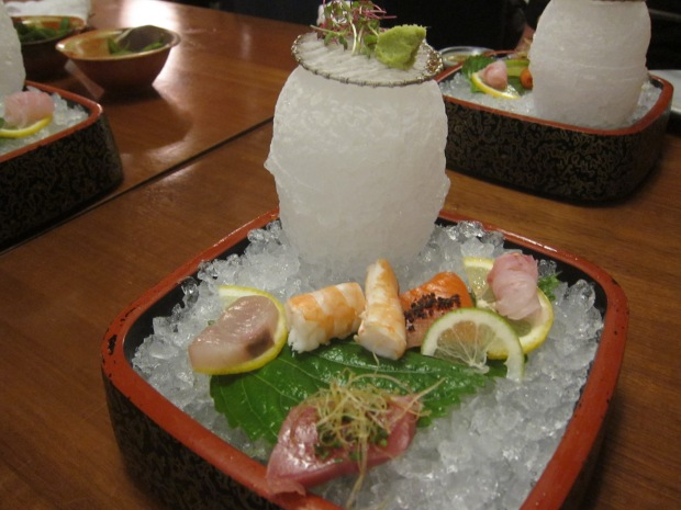 a selection of unique sashimi