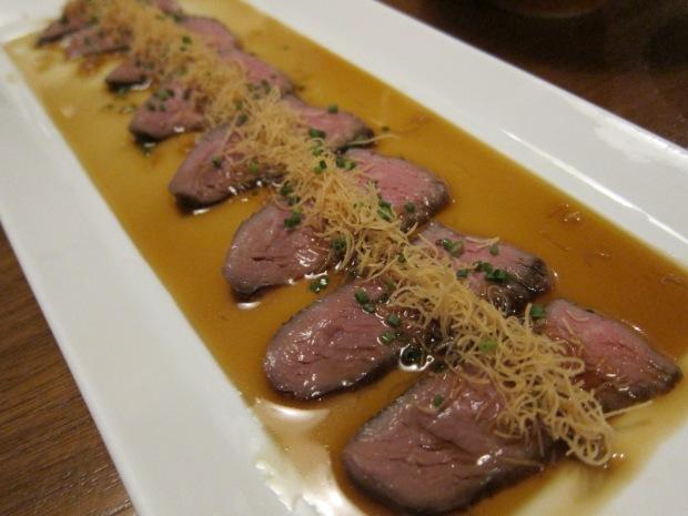 wagyu beef 'tataki' style